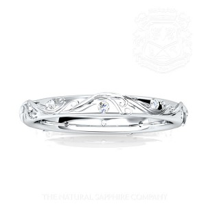 Blue sapphire ring Band 2