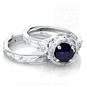 Blue sapphire ring and Band
