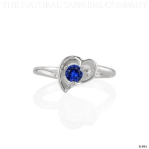 blue sapphire heart shaped ring