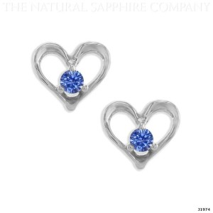 heart shaped blue sapphire earrings