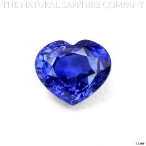 heart shaped blue sapphire