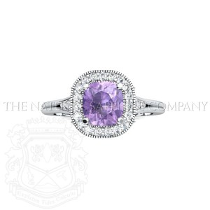 unique purple sapphire ring view 1