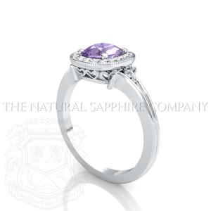 unique purple sapphire ring view 2