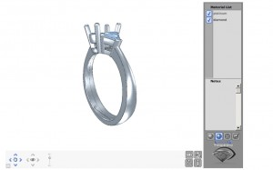 3D view of sapphire ring