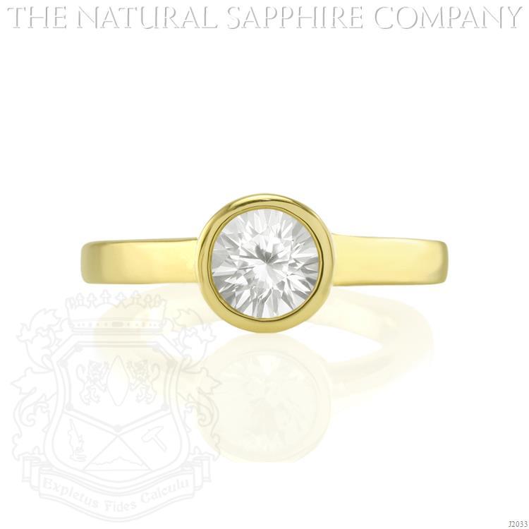 Natural Round Sapphire Ring