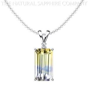 Unique Sapphire In Custom Pendant