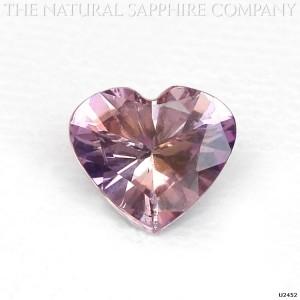 Heart Shaped Pink Sapphire