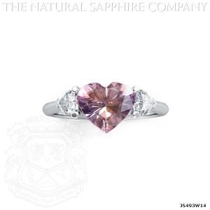 Pink Sapphire in Custom Pendant