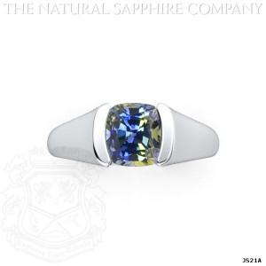 Unique Sapphire In Custom Setting