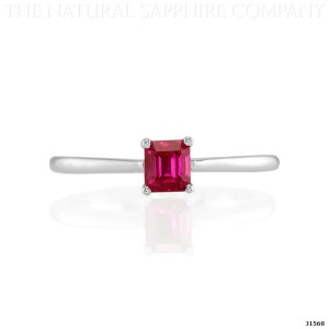 pink sapphire ring in white gold 1