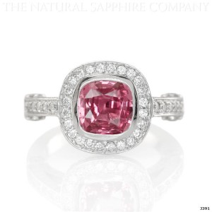 pink sapphire ring in white gold
