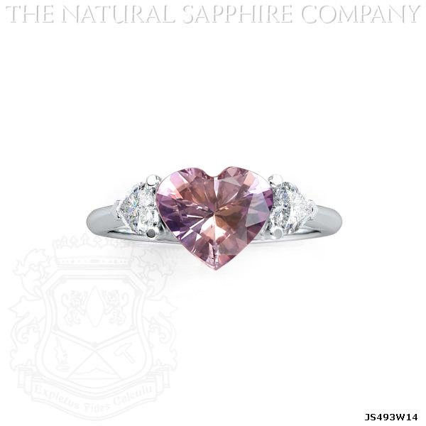 Natural Bi-Color Sapphire set in Three Stone Mounting