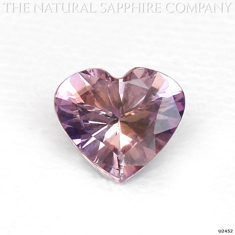 Untreated Purplish Pink Bi-Color Sapphire