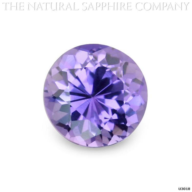 U3018 is beautiful round violet sapphire.