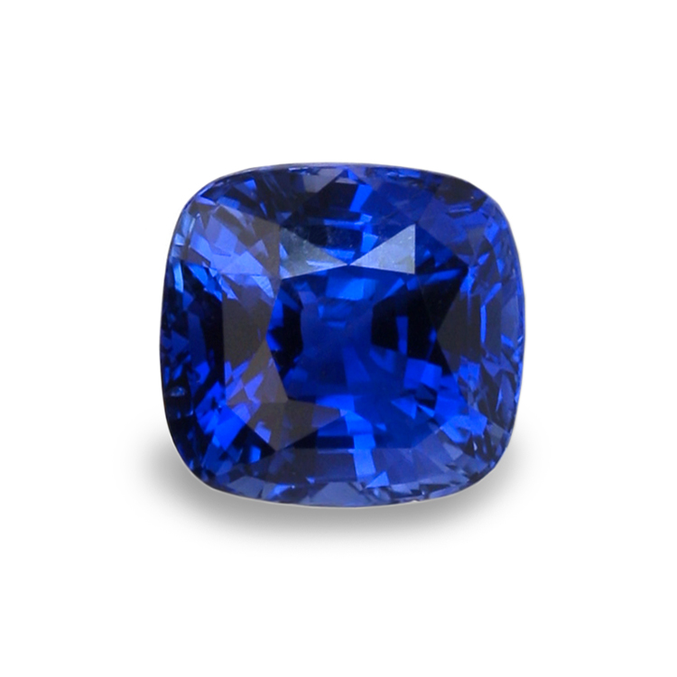 sapphire jewelry ring loose blue cushion index cut