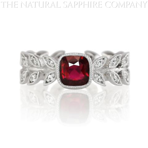 natural untreated custom made ruby ring
