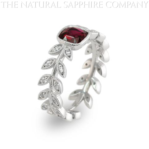Natural untreated custom made ruby ring side view