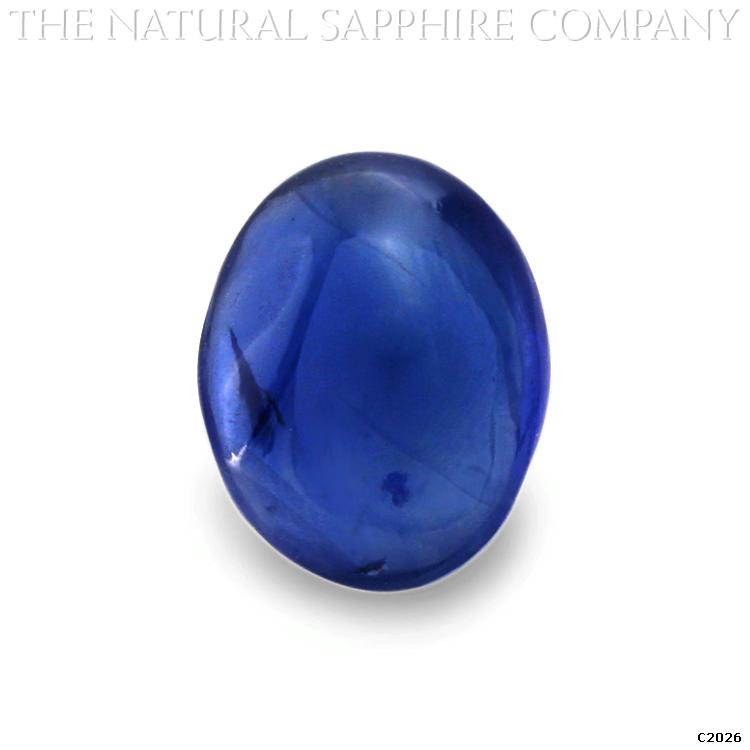 C2026 is a gorgeous vivid blue sapphire cabochon weighing 4.53 carats