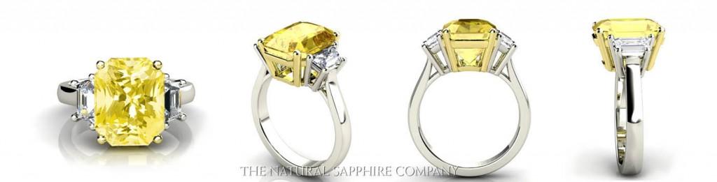 yellow sapphire ring..