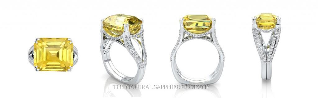yellow sapphire ring.