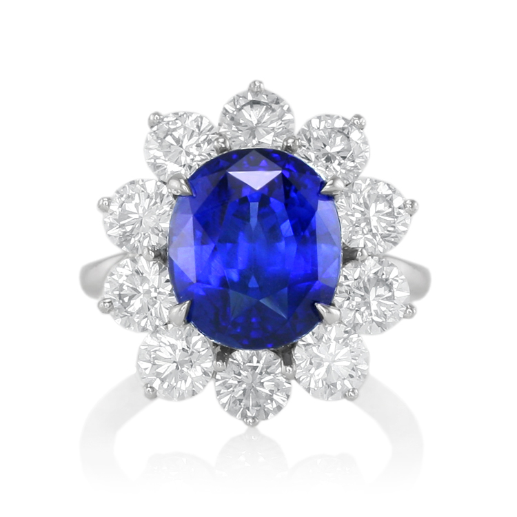 blue sapphire diana ring the sapphire