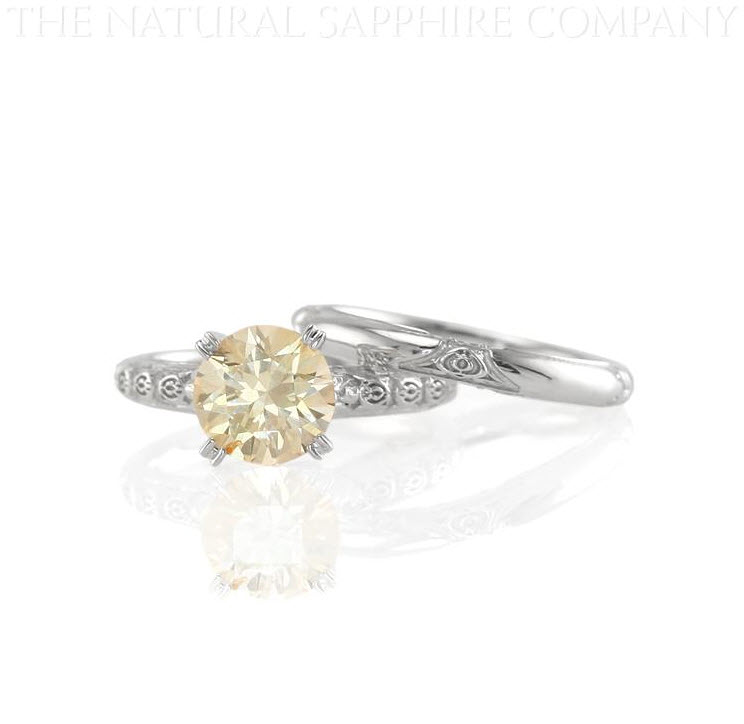 Custom Made Natural Untreated Orange Sapphire Ring