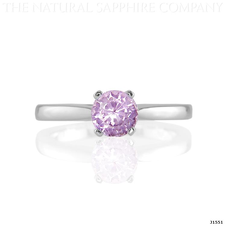 Natural Untreated Lilac Sapphire Engagement Ring