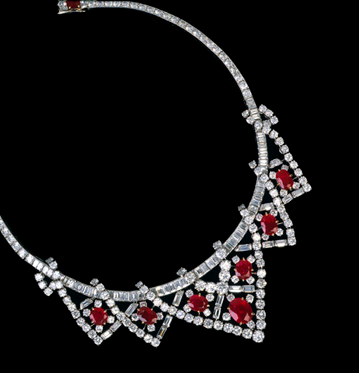 Cartier Ruby and Diamond Necklace
