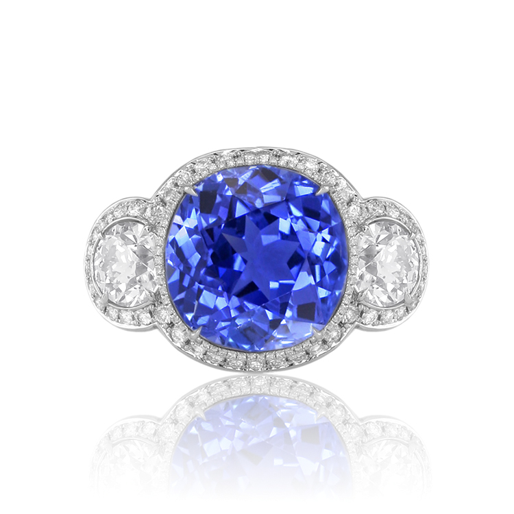 Magnificent New Natural Untreated Blue Sapphire Ring