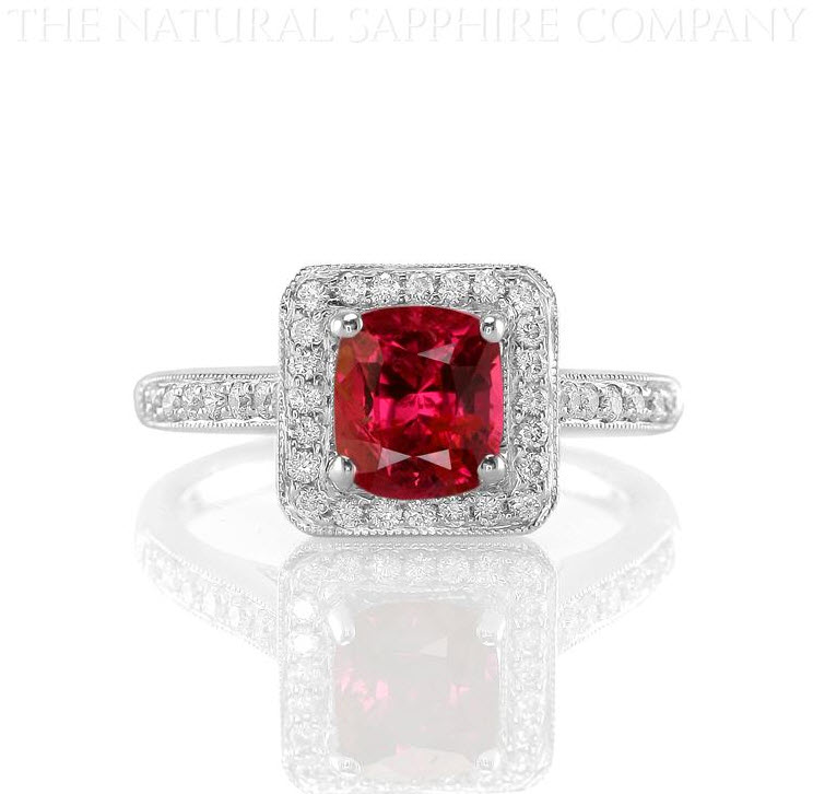 J2896 Natural Untreated Ruby and Diamond Ring