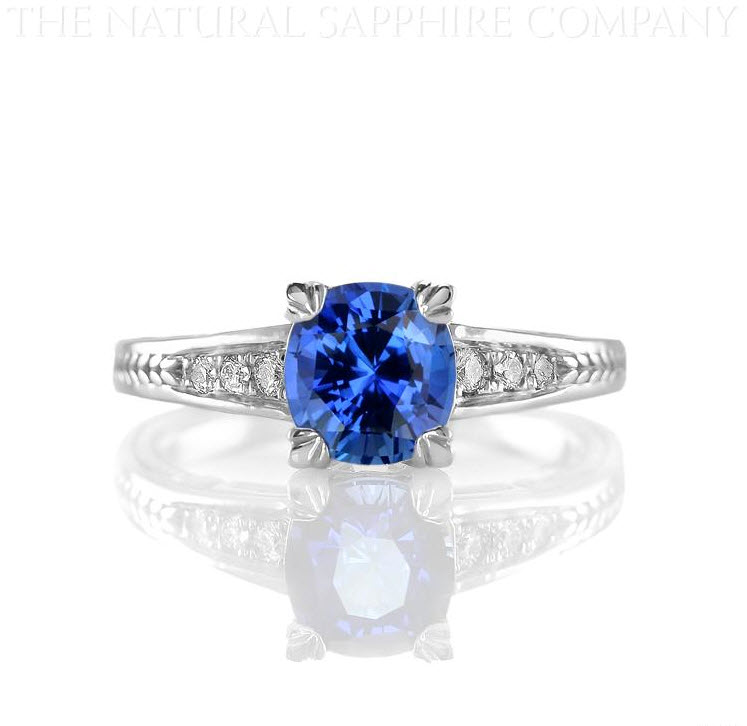 Natural-Untreated-Cushion-Cut-Blue-Sapphire-Ring