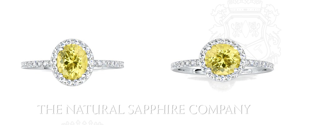 Natural Untreated Oval Yellow Sapphire Ring