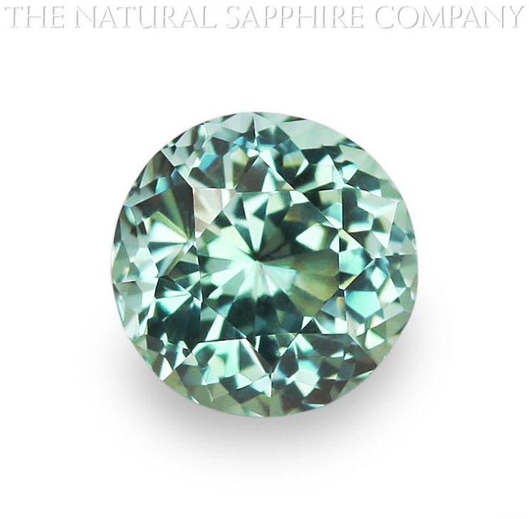 Natural Untreated Round Bluish Green Montana Sapphire