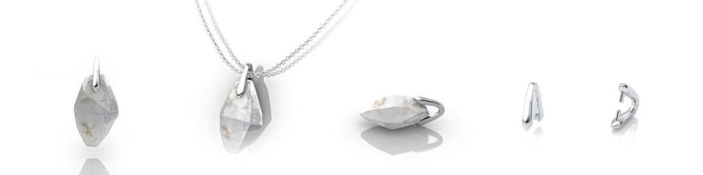 crystal sapphire pendants