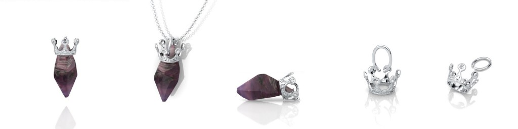 red crystal sapphire pendant