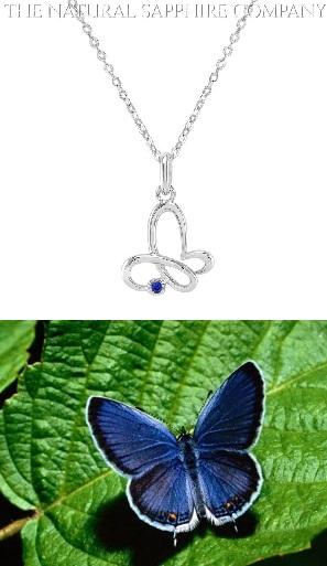 Blue sapphire Butterfly_J3128