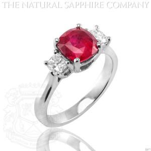 Cushion Ruby Ring