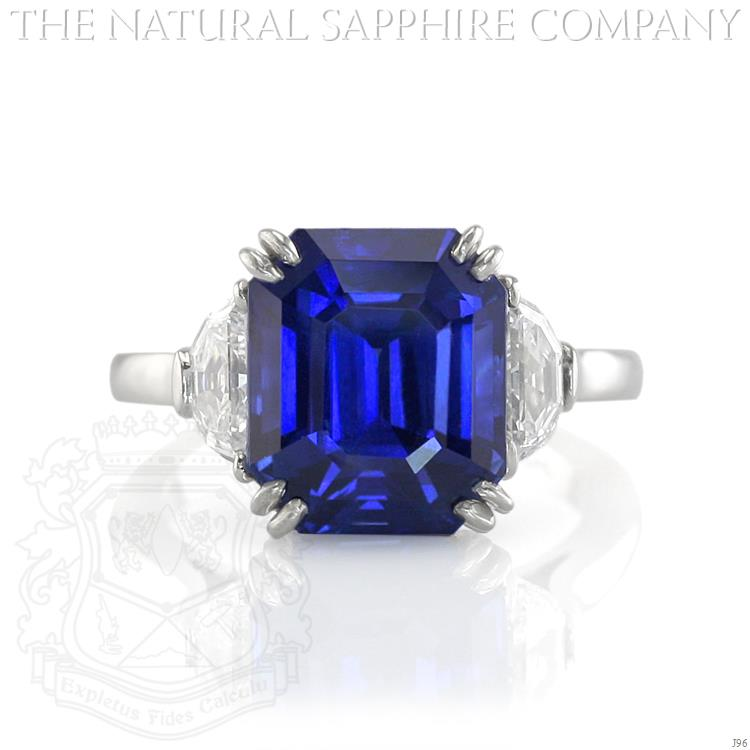 item trapezoid buy ring asscher rings engagement cut diamond tacori shape sapphire platinum estate