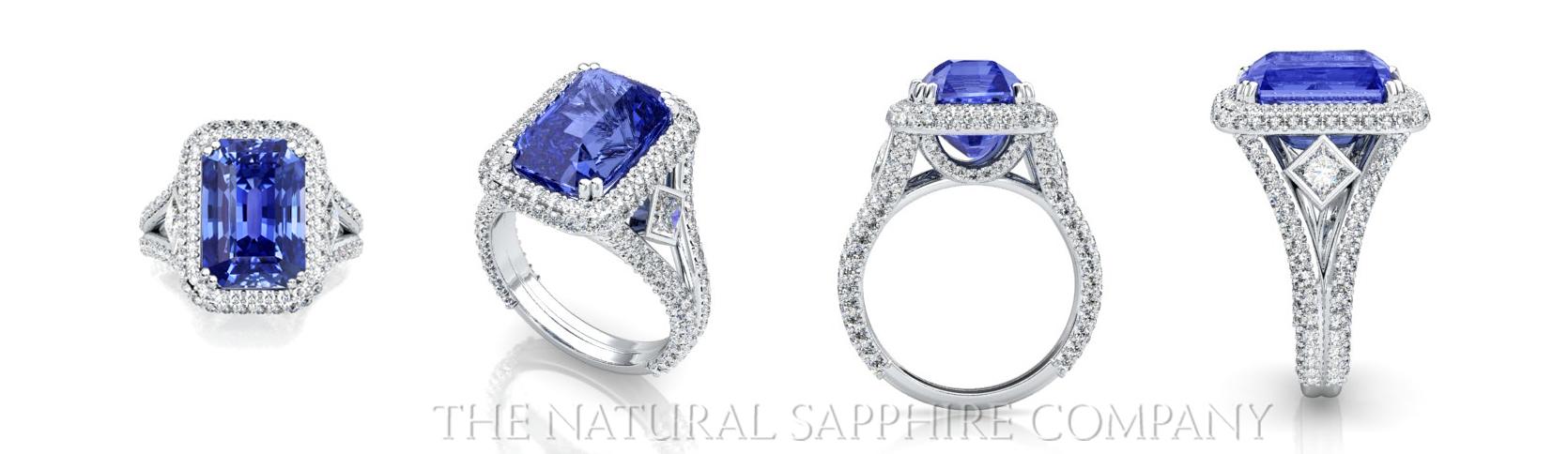 custom designed blue sapphire rings