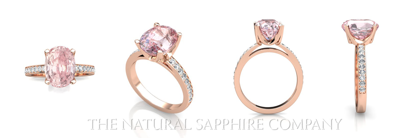 gold ring pink rings diamonds with sapphire of in white tw carat