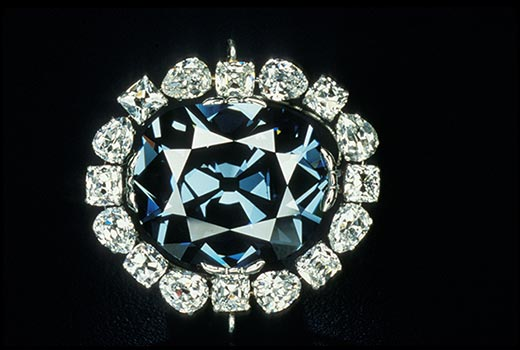 current design surrounding the Hope Diamond