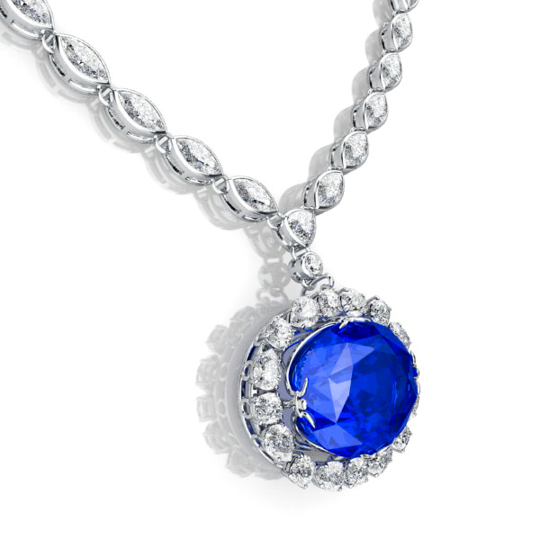 the sapphire necklace view 2