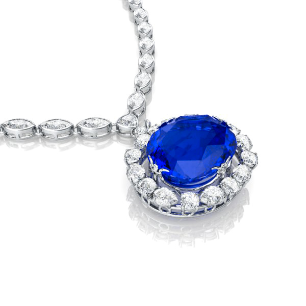 the sapphire necklace view 4