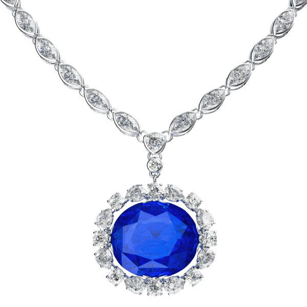 the sapphire necklace