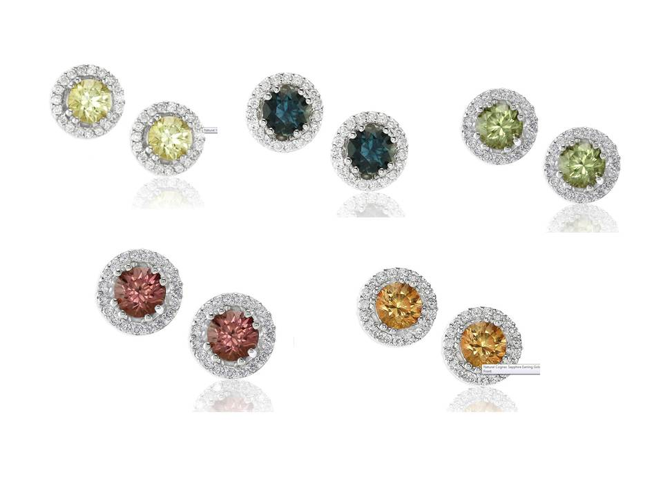 Untreated Sapphire Stud Earrings