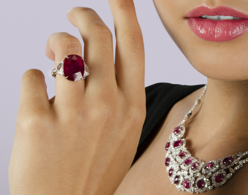 Ruby ring on hand