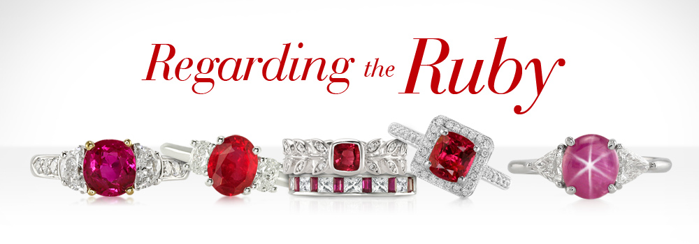 ruby, star and pink sapphire rings