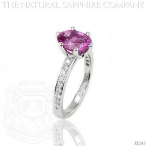 Pink Oval Sapphire Engagement Ring