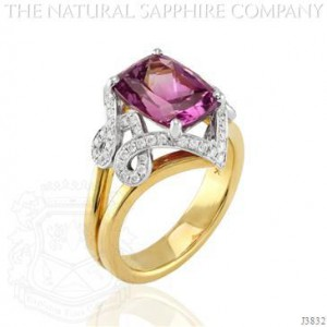 purplish pink sapphire ring