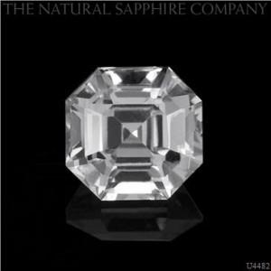 Asscher Cut White Sapphire